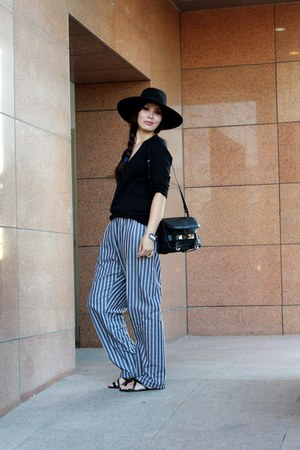black H&M hat - black PROENZA SCHOULER bag - black Gap cardigan