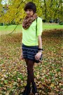 Light-yellow-reserved-sweater-black-c-a-skirt