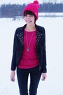 Black-house-jacket-hot-pink-adidas-accessories-black-stradivarius-pants