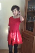 red cotton Zara dress