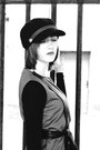 Army-green-frontrowshop-dress-black-new-yorker-diy-hat