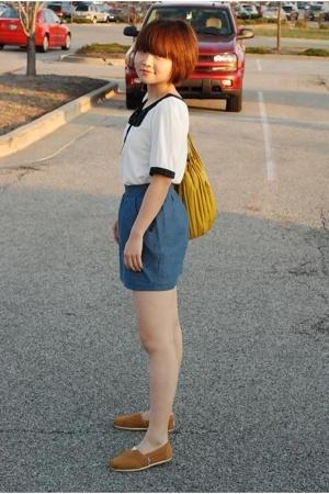 Forever21 blouse - Forever21 skirt - Toms shoes