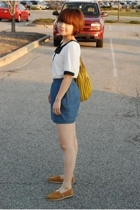 Forever21 blouse - Forever21 skirt - Toms shoes