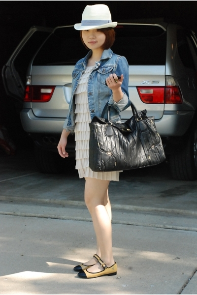 Urban Outfitters jacket - dress - Juicy Couture purse - Chanel shoes - f21 hat