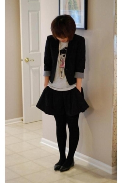 H&M blazer - Forever21 shorts - Old Navy t-shirt