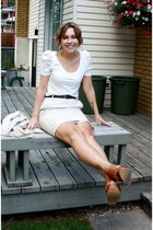 H&M shirt - H&M skirt - Jeffrey Campbell shoes