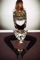 white Love sweater - black American Apparel pants