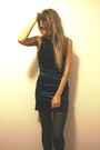 Black-kling-jacket-navy-love-dress