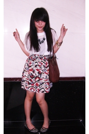 Zara blouse - bloop skirt - Zara shoes - Forever21 bracelet