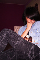 unbranded jacket - Yuan jeans - Bali bracelet
