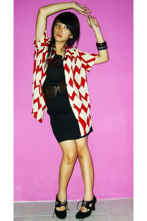 klik-klok shop blouse - Gaudi belt - klik-klok shop skirt - mangga dua shoes