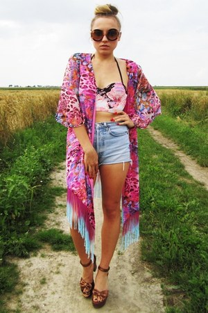 Love Label cardigan - H&M sandals - River Island swimwear
