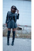 H&M shirt - Aldo boots - H&M skirt