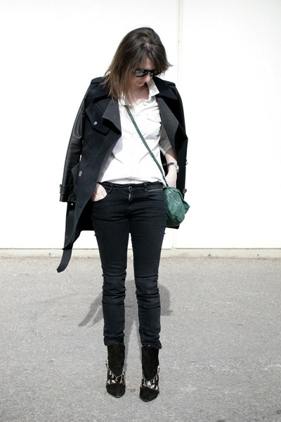 Zara boots - Burberry coat - Old Navy shirt - Givenchy bag - Zara pants