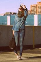 Bershka jeans - Topshop shirt - Alexander Wang belt