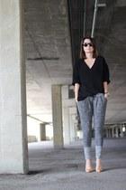Zara sweatshirt - H&M Trend pants - Zara heels