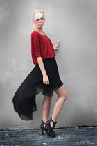 brick red GINA TRICOT shirt