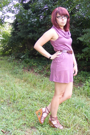 American Apparel dress - found belt - forever 21 shoes