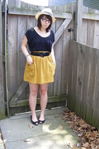 American Apparel skirt - Wet Seal top - Wet Seal belt - payless shoes - Forever2