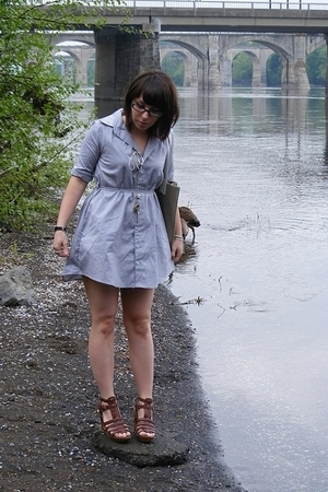 American Apparel dress - Wet Seal necklace - forever 21 shoes - Marc Jacobs for