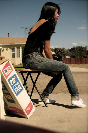 American Apparel top - Express jeans - Puma shoes - Tarina Tarantino necklace