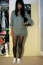 forever 21 dress - tights - Puma shoes