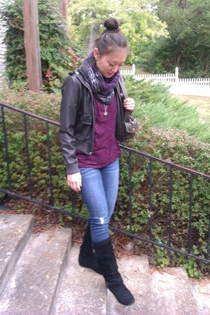 black white mountain boots - navy I Love H81 jeans