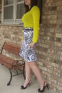 Yellow-old-navy-shirt-white-charlotte-russe-skirt-black-payless-shoes