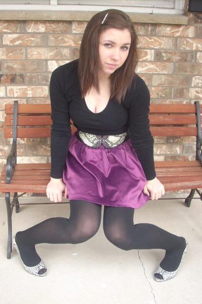 Charlotte Russe skirt - Kelly & Katie shoes - Charlotte Russe belt