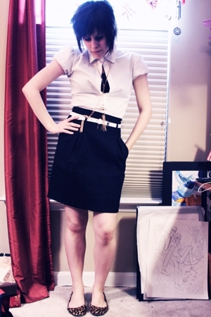 Theory skirt - Theory blouse - Theory - forever 21 accessories