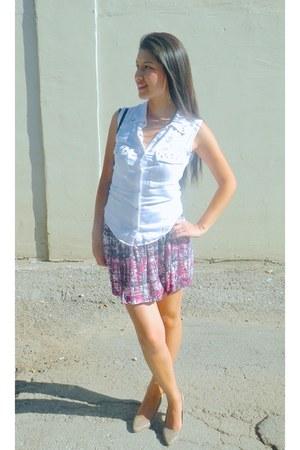 white Forever 21 shirt - Forever 21 skirt
