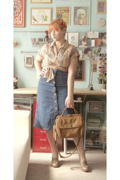 Forever 21 shirt - Urban Outfitters bag - H&M skirt - Aldo loafers
