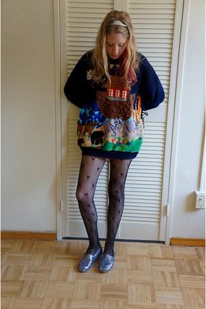 navy thrifted jumper