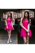 hot pink Sheinsidecom dress