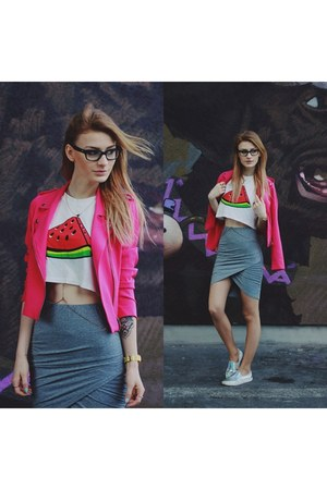 hot pink StyleMoi jacket