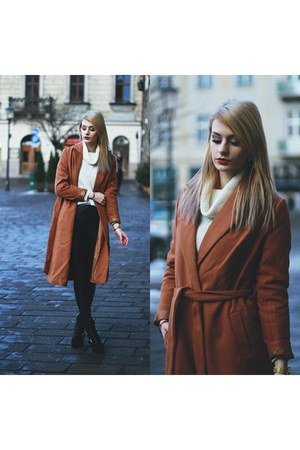 tawny shein coat