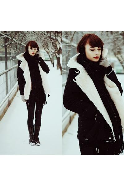 black Sheinsidecom coat