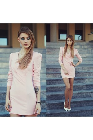 peach milanoo dress