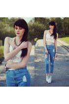sky blue Sheinsidecom jeans