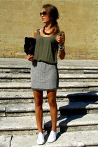 Chronotech watch - Zara dress - Miu Miu sunglasses - Superga sneakers