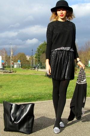 Pimkie hat - Zara jacket - Zara sweater - new look top - Pimkie skirt