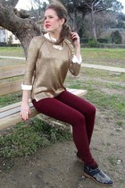 Zara boots - Zara jeans - Zara sweater - Zara blouse - Zara necklace