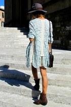 Zara boots - Zara dress - H&M hat - Zara bag - Zara cardigan - H&M belt