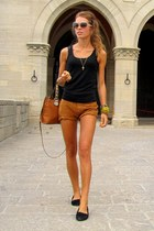 segue bag - Pimkie shorts - Miu Miu sunglasses - Vero Moda top