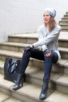 Sisley heels - handmade hat - Mango bag - H&M cardigan - Zara blouse