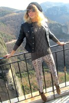 Zara boots - Miu Miu sunglasses - Zara pants