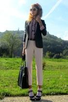 Zara blazer - Miu Miu sunglasses - Bijou Brigitte hair accessory - oodji blouse