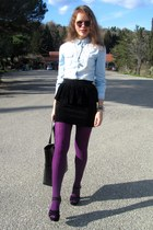 Stradivarius shirt - levante tights - Mango bag - Gucci glasses