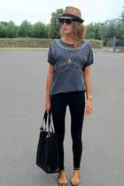 Zara hat - Zara shoes - Mango bag - Miu Miu sunglasses - Zara t-shirt