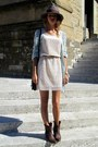 Zara-boots-zara-dress-h-m-hat-zara-bag-zara-cardigan-h-m-belt